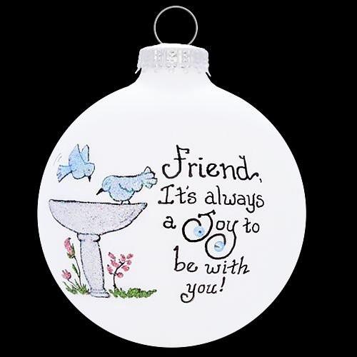 Heart Gifts by Teresa - USA Made Friend Bird Bath Ornament