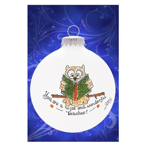 Heart Gifts by Teresa - USA Teacher Owl Ornament
