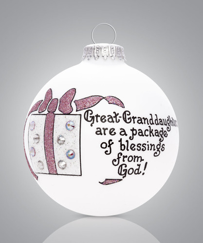 Heart Gifts by Teresa - USA Made Great Granddaughter Ornament
