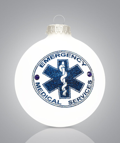 Emergency Medical Services (EMS) Ornament, Heart Gifts by Teresa