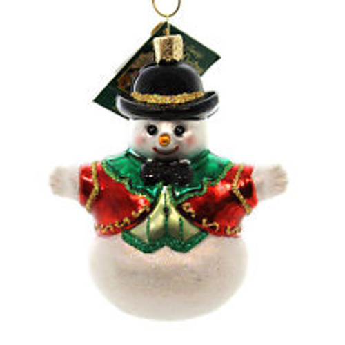 Old World Christmas-Bowler Hat Snowman  Ornament