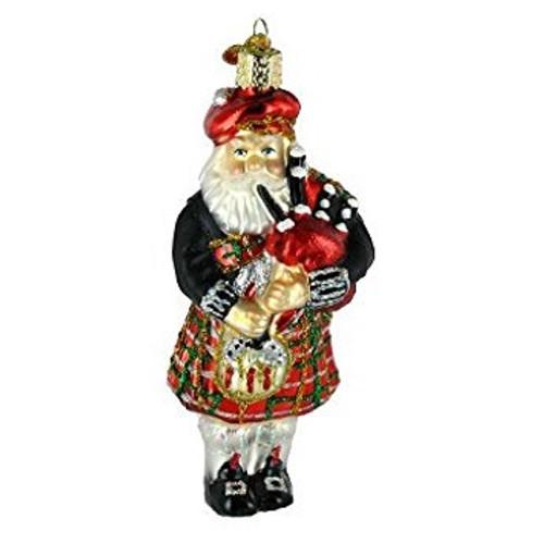 Old World Christmas- Highland Santa Ornament