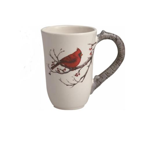 Dolomite Woodland Cardinal on Birch Tree Print Mug