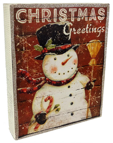Christmas Greetings Box Sign
