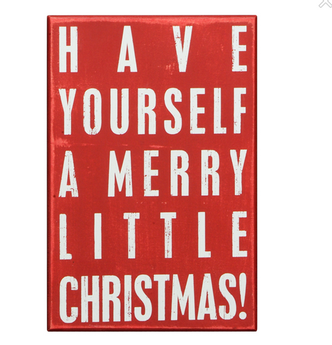 Box Sign - Merry Little Christmas