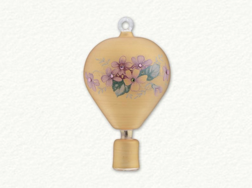 EGYPTIAN GLASS FLORAL HOT AIR BALLOON ORNAMENT