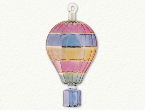 EGYPTIAN GLASS LARGE HOT AIR BALLOON