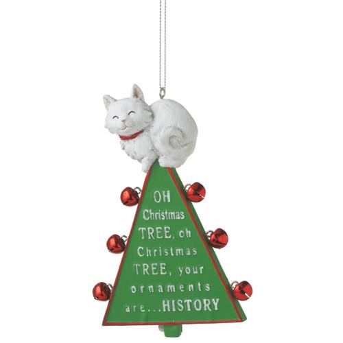 Oh Christmas Tree Cat Ornament