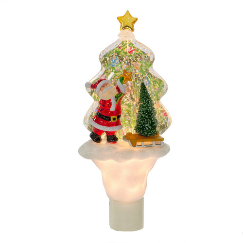 Santa Shimmer Tree Night Light