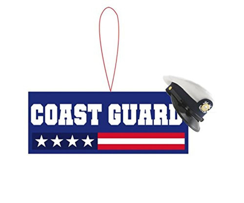 USA Coast Guard Ornament, with Stars and Stripes and Hat