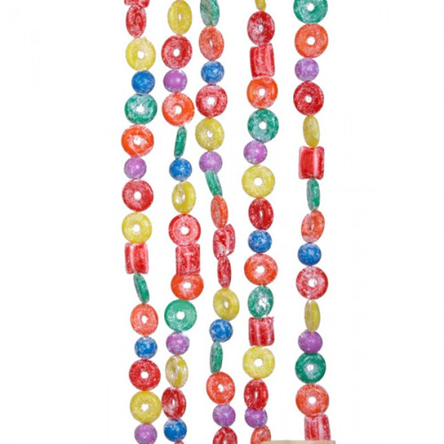 Life Saver Glitter Candy Garland - 9 Foot