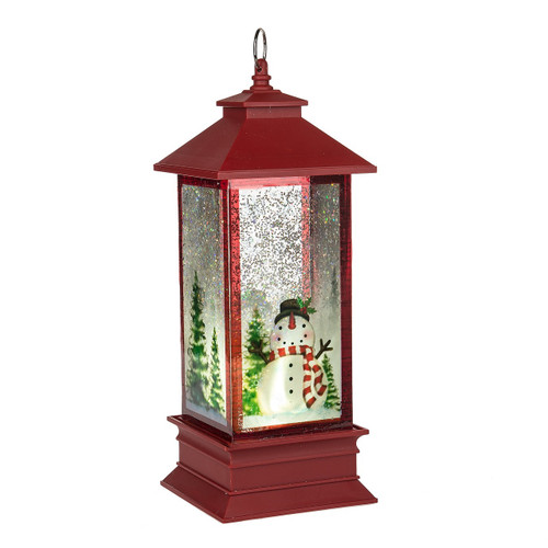 LED Snowman Lantern Shimmer