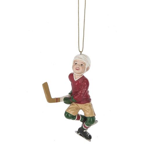Boy Hockey Player Ornament