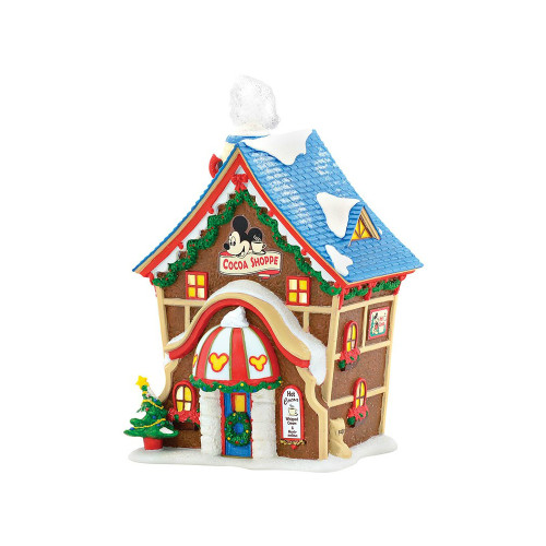 Department 56 - Mickey's Village - Mickey's Cocoa Shoppe Lit Building