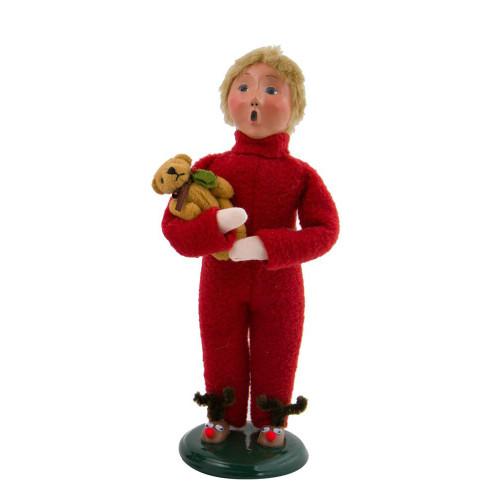 2017 Byers Choice - Boy With Teddy Bear