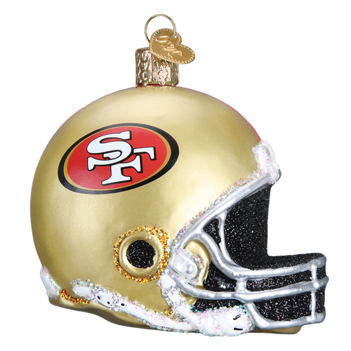 Old World Glass - San Francisco 49ers Helmet Ornament