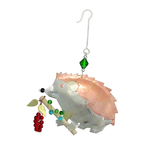Pilgrim Imports - Handcrafted, Fair Trade,  Metal Hedgehog Ornament