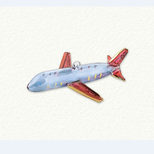 Egyptian Glass Airplane Ornament