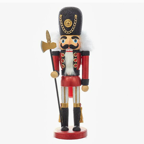 "15"" Black and Red Soldier Nutcracker"