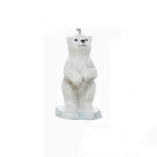 Polar Bear Standing on Iceberg Ornament