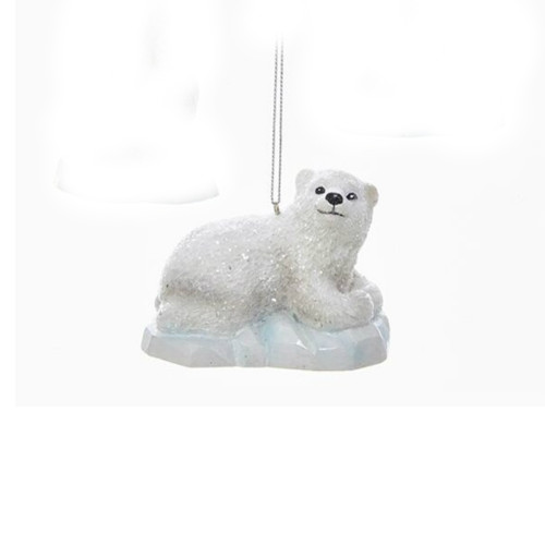 Polar Bear Laying on Iceberg Ornament