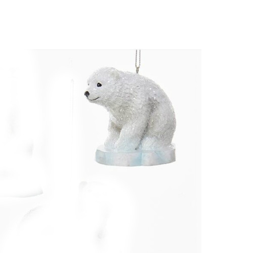 Polar Bear Sitting on Iceberg Ornament