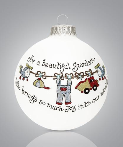 Grandson Joy Ornament- Heart Gifts by Teresa - USA Made