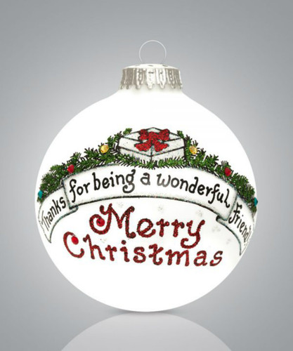 """Friend Ornament """"Thanks for being a wonderful Friend""""-  Hearts Gifts by Teresa"""