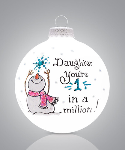 """Daughter Ornament, """"One in a Million Daughter"""" by Hearts Gifts by Teresa"""