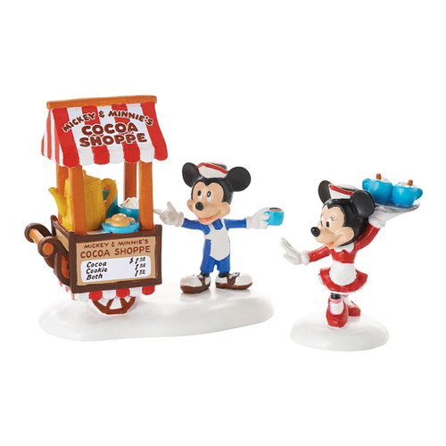 Department 56- Mickey's Village- Mickey's Cocoa On The Go Set of 2 Accessory