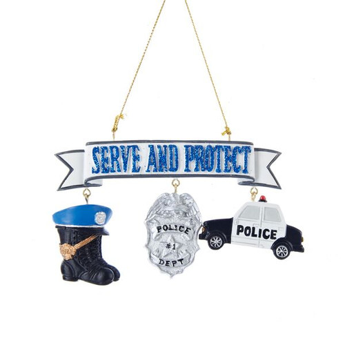 Serve and Protect Policeman Ornament