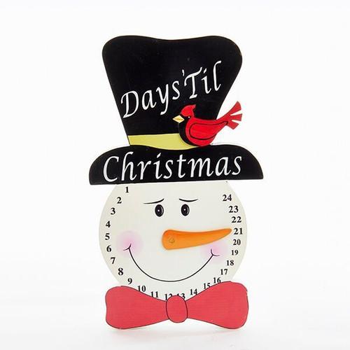 Wooden Christmas Countdown Snowman Hanger