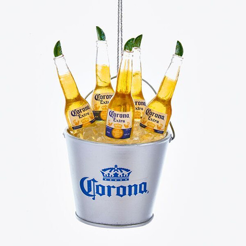 Corona Bottles in Ice Bucket Ornament