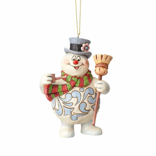 *New 2017* Jim Shore Heartwood Creek-Frosty with Hat and Broom Ornament