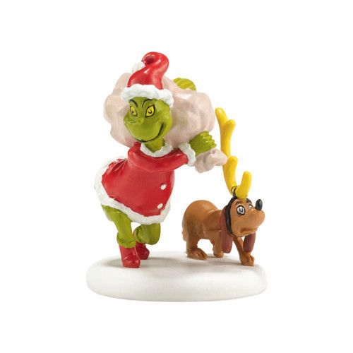 Department 56- Grinch Village- Grinch Next He Loaded Some Bags