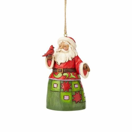 Jim Shore Heartwood Creek- Santa with Cardinal Ornament