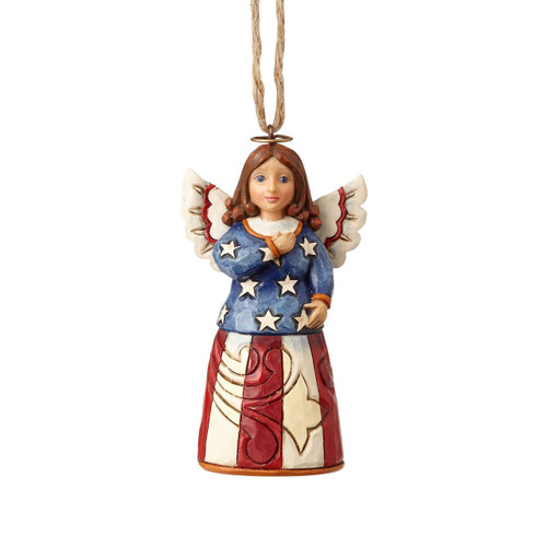 Jim Shore Heartwood Creek- Patriotic Angel Ornament
