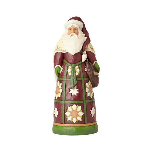 Jim Shore Heartwood Creek- Santa with Satchel Statue