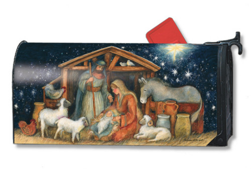 Holy Night Mail Box Cover
