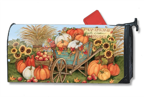 Pumpkin Wagon Mail Box Cover