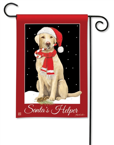 Santa's Helper Garden Flag