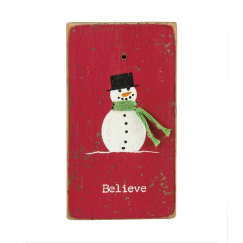 Believe Stitched Block Magnet