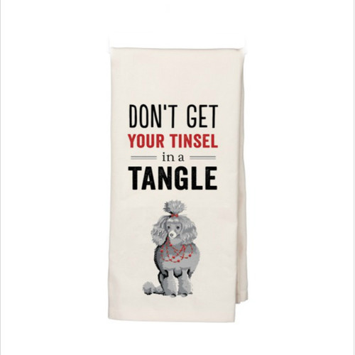 Don't Get Your Tinsel in a Tangle Dish Towel