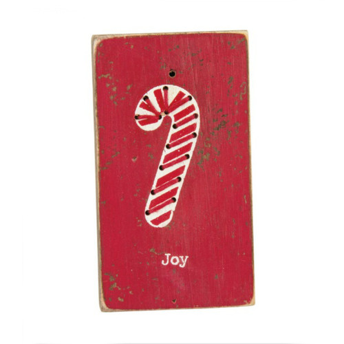 Joy Stitched Block Magnet