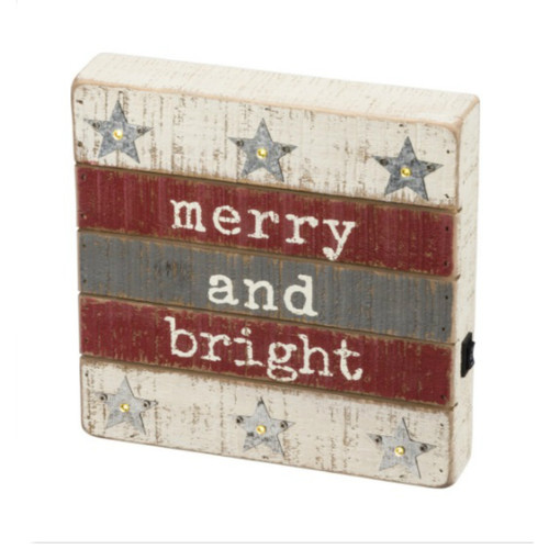 LED Merry Bright Box Sign