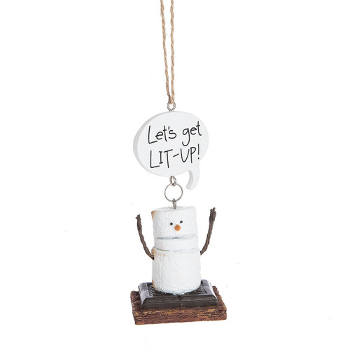 Toasted S'mores- Let's Get Lit Up Ornament