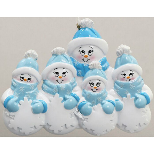 Free Personalization - Snowman Plus 4 Ornament