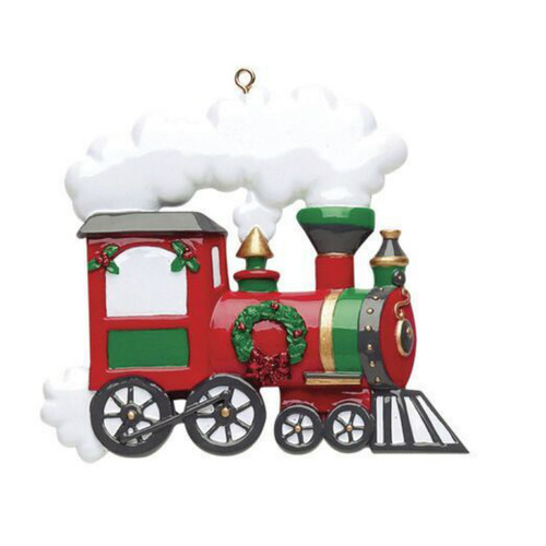 Free Personalization - Train Ornament