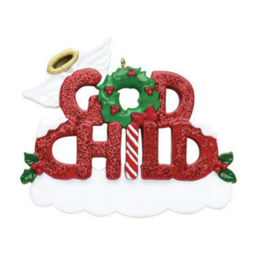 Free Personalization - Godchild Ornament