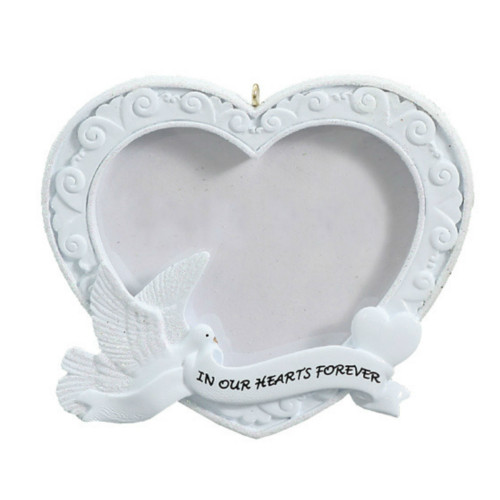 Free Personalization - In Our Hearts Forever Photo Frame Ornament